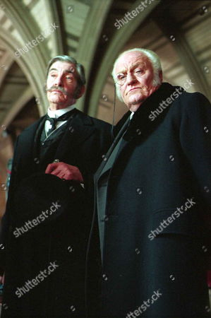 'Sherlock Holmes'   TV   1980's Memoirs of Sherlock Holmes: The Mazarin Stone  Lord Cantlemere [James Villiers] and Mycroft Holmes [Charles Gray]