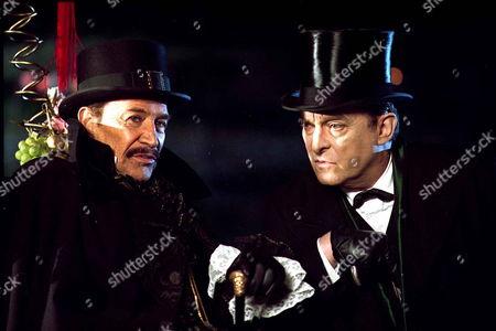 'Sherlock Holmes'   TV   1980's Memoirs of Sherlock Holmes: The Three Gables  Sherlock Holmes [Jeremy Brett] with Langdale Pike [Peter Wyngarde]