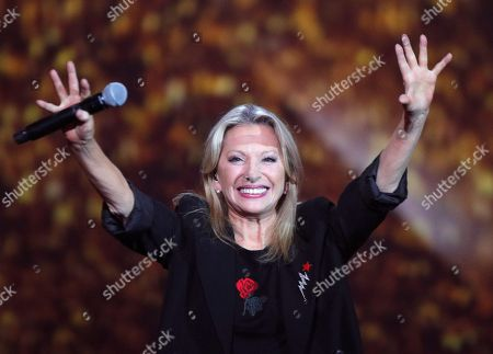 French singer Veronique Sanson performs on stage during during the 32nd Victoires de la Musique, the annual French music awards ceremony, in Paris