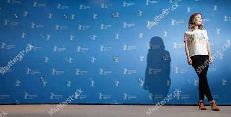 Actress Nora von Waldstaetten poses for the photographers during a photo call for the film 'Wild Mouse' at the 2017 Berlinale Film Festival in Berlin, Germany