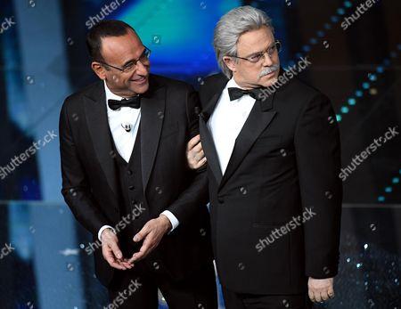 Maurizio Crozza and Carlo Conti