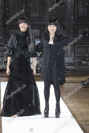 Stock Image of Model and Hanako Maeda