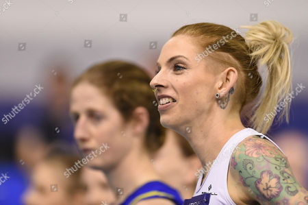 Stock Picture of Bristol & West's Charlotte Taylor-Green during the Women's 1500m heats on Day One of the British Athletics Indoor Team Trials at the English Institute of Sport, Sheffield on 11th February 2017.
