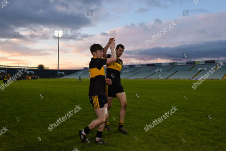 Corofin vs Dr. Crokes. David OÕLeary and Michael Moloney of Dr. Crokes celebrate after the game
