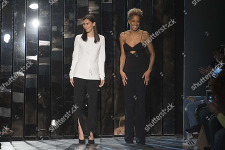 Michelle Ochs and Carly Cushnie on the catwalk
