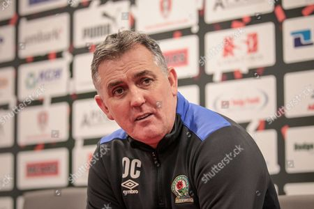 Owen Coyle (Manager) (Blackburn Rovers) during the press conference following the EFL Sky Bet Championship match between Rotherham United and Blackburn Rovers at the AESSEAL New York Stadium, Rotherham