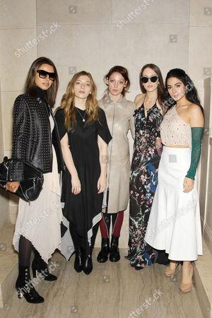 Annabelle Fleur, Kelsey Byrne-Verite, Cory Kennedy, Eleanor Lambert, Emeraude Toubia