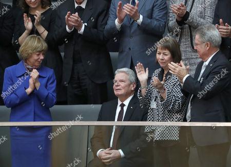 Joachim Gauck, Daniela Schadt and Heinz Fischer