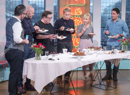 Stock Picture of Will Torrent, Simon Rimmer, Johnny Vegas, Russell Howard, Jorgie Porter and Leveson Wood