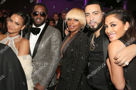 Cassie, Sean Combs, Mary J Blige, French Montana and Nicole Scherzinger