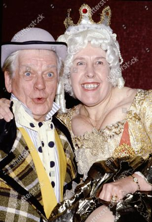 Bill Owen as Baron Hardup and Kathy Staff as the Queen in the pantomime 'Cinderella'