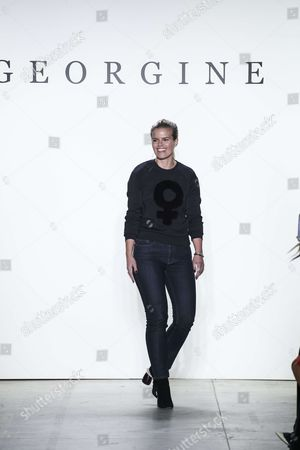 Editorial photo of Georgine show, Runway, Fall Winter 2017, New York Fashion Week, USA - 11 Feb 2017