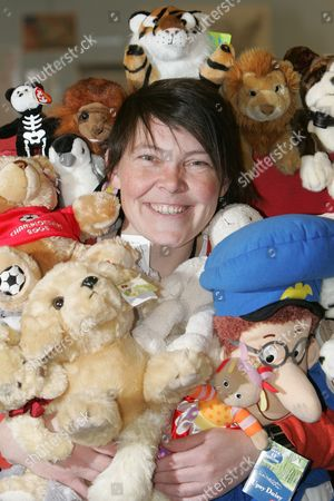Tara Connor surrounded with just a sample lost soft toys
