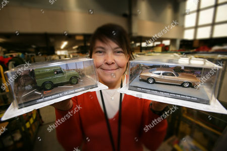 Tara Connor with James Bond model cars