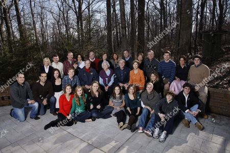 Editorial image of President George W. Bush and Family Gather at Camp David on Christmas Day, Maryland, America - 25 Dec 2008