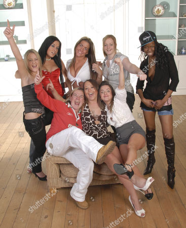 'Ladette To Lady' TV programme - The Eight Ladettes: L-R:  Ladettes Nicole Hart, Kelly Simpson, Charlotte Donohue, Amber Jacques and Neema Mattaker; L-R:  Simone Webber, Laura Waude and Holly Clements