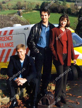 Stock Photo of 'Peak Practice'   TV Gary Mavers, Adrian Lukis and Hadyn Gwynne
