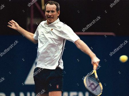Zagreb Croatia: Us Tennis Veteran John Mcenroe Returns a Ball to Mats Wilander of Sweden on the Third Day of the Atp Senior Tour of Champions in Zagreb 15 November 1998 Mcenroe Beat Wilander in Two Sets and Will Play the Final Against Guy Forget of France