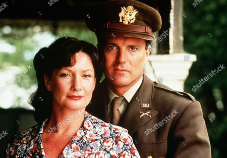'Fields of Fire'  TV - 1987 -  Burgess (Nicholas Hammond) in army uniform and Elsie (Kris Mcquade).