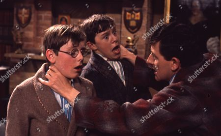 Andrew Packett (as Matthew Flaxton) and Philip Baldwin (as Terry Nichols) with Christopher Coll (as Philip Hedley)