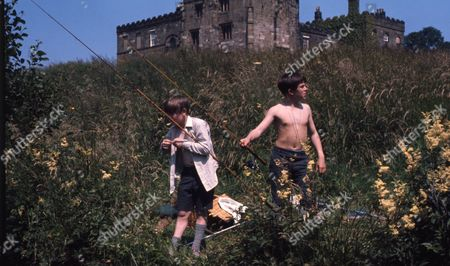 Stock Picture of Andrew Packett (as Matthew Flaxton) and Philip Baldwin (as Terry Nichols) in the grounds of Ripley Castle (Flaxton Hall)