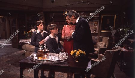 Andrew Packett (as Matthew Flaxton) and Philip Baldwin (as Terry Nichols), with Joanna Marie Jones (as Elizabeth Flaxton) and David Garth (as Thurloe)