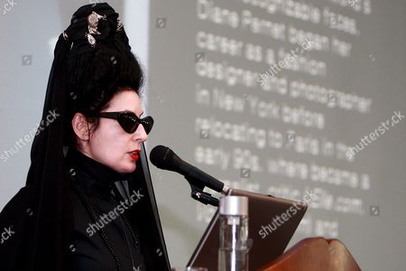 World-renowned Fashion Journalist Diane Pernet Speaks at a Global Fashion Forum Part of Seoul Fashion Week S/s 2009 at a Convention Center on 20 October 2008 in Seoul South Korea Korea, Republic of Seoul