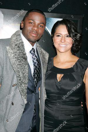 Stock Photo of Derek Luke and wife Sophia Luke