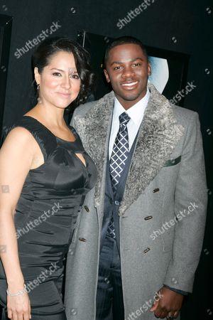 Stock Image of Derek Luke and wife Sophia Luke