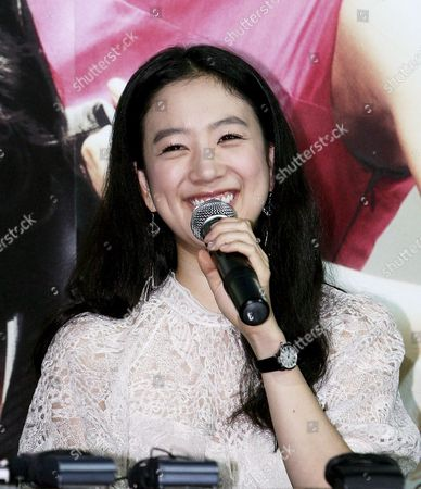 Korean Actress Jung Ryeo-won Smiles During a Press Preview of Her New Movie 'My Double-faced Girlfriend' in Seoul South Korea on 21 August 2007 in the Romantic Comedy Jung Plays a Girl with Multiple Personalities Korea, Republic of Seoul