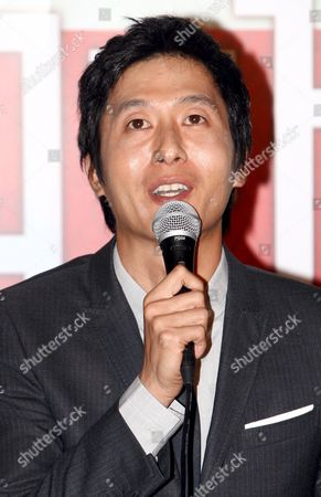 A Picture Made Available 15 October 2006 Shows South Korean Actor Kim Joo-hyuk who Stars in Director Jung Yoon-soo's Movie 'My Wife Got Married ' Respond to Reporters' Questions During a Publicity Event at Cgv Theater in Seoul South Korea 14 October 2008 the Movie Will Be Released in South Korea on 23 October Korea, Republic of Seoul