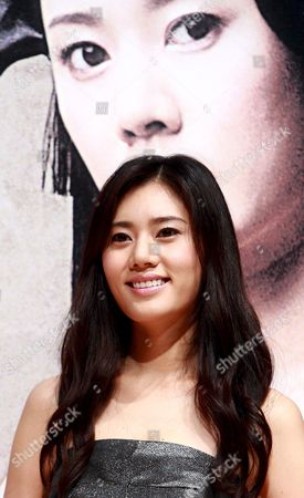 South Korean Actress Choo Ja-hyun who Stars in Director Chun Yoon-soo's Film 'Miindo ' Poses For Photographers During a Publicity Event at Ewha 100th Memorial Hall in Seoul South Korea 13 October 2008 the Movie is Released in South Korea on 13 October Korea, Republic of Seoul
