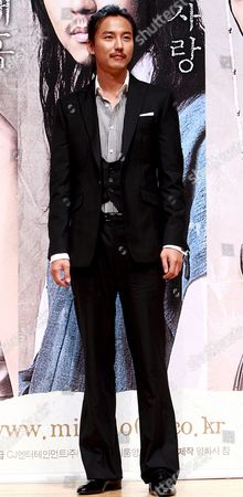 South Korean Actor Kim Nam-gil who Stars in Director Chun Yoon-soo's Film 'Miindo ' Poses For Photographers During a Publicity Event at Ewha 100th Memorial Hall in Seoul South Korea 13 October 2008 the Movie is Released in South Korea on 13 October Korea, Republic of Seoul