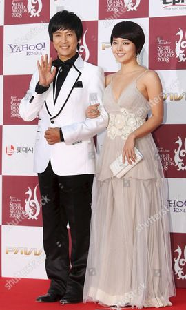 A Picture Made Available on 16 October 2008 Shows South Korean Actor Choi Soo-jong and Actress Yoo Jin on the Red Carpet at the 2008 Seoul Drama Festival at Kbs Hall in Seoul Korea on 14 October 2008 Korea, Republic of Seoul