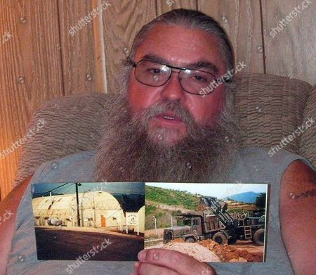 U S Veteran Steve House who was Stationed at Camp Carroll in South Korea's Southeastern County of Chilgok in the Late 1970s Discloses Photos Showing the Alleged Site and Heavy Equipment Used to Bury Agent Orange During an Interview with Yonhap News Agency in His Residence in the Arizona City of Phoenix on 24 May 2011 Steve is One of the Three U S Veterans who Recently Claimed on a U S Tv Program That Their Unit Buried Hundreds of Drums of Leftover Agent Orange Inside the U S Base in 1978 the Highly Toxic Chemical Widely Used As Defoliant During the Vietnam War Can Cause Serious Health Problems Including Cancer and Birth Defects United States Phoenix