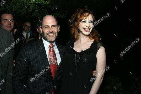 Matt Weiner and Christina Hendricks