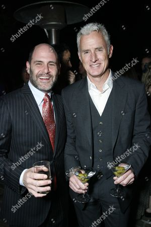Matt Weiner and John Slattery
