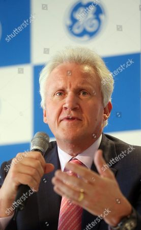 General Electric (ge) Chairman and Ceo Jeffrey Immelt Answers Questions During a Press Meeting in Seoul South Korea 15 April 2016 Immelt Visited Seoul to Attend an Innovation Forum of Us Multinational General Electric Korea, Republic of Seoul
