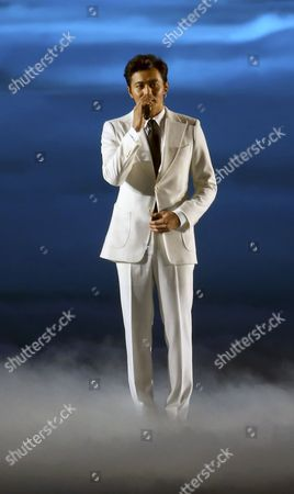 South Korean Actor Jang Dong-gun Performs at the Asiad Main Stadium During the Opening Ceremony of the 17the Asian Games in Incheon South Korea 19 September 2014 Korea, Republic of Incheon