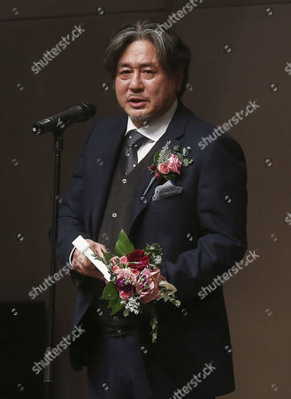 South Korean Actor Choi Min-sik Speaks After Receiving the Grand Prize During the Fourth Beautiful Artist Award Ceremony at the Korea Press Center in Downtown Seoul South Korea 09 December 2014 Korea, Republic of Seoul