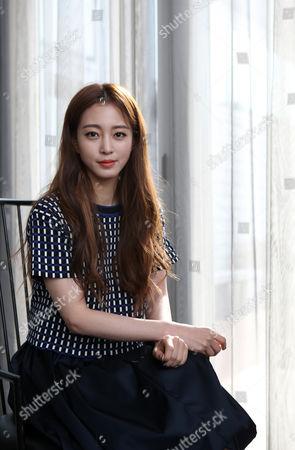 South Korean Actress Han Ye-seul Poses For an Interview in Seoul South Korea 16 January 2015 Korea, Republic of Seoul