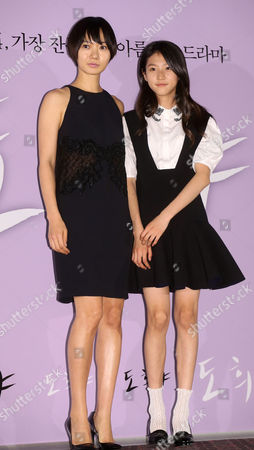 South Korean Actresses Bae Doo-na (l) and Kim Sae-ron (r) Pose at an Event in Seoul South Korea 12 May 2014 to Showcase the New Film 'Doohee-ya ' the Story of a 14-year-old Girl Struggling with Domestic Violence with the Help of a Police Officer Korea, Republic of Seoul