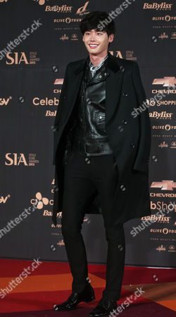 South Korean Actor Lee Jong-suk Poses at the '2013 Style Icon Awards' Ceremony Held at the Cj E&m Center in Seoul South Korea 24 October 2013 Korea, Republic of Seoul
