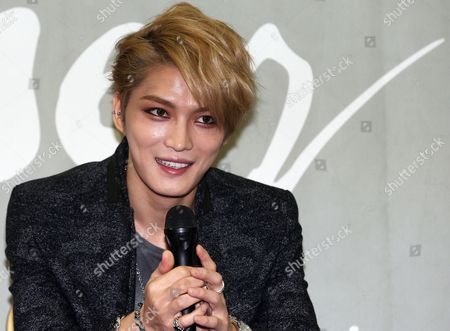 K-pop Singer Kim Jae-joong Speaks at a Press Conference in Seoul South Korea 03 November 2013 About His Asia Concert Tour Marking His First Full-length Album 'Www: who when why ' Songs From the Album Rose to No 1 on the Itunes Chart in Nine Different Countries Upon the Album's Release Kim is Scheduled to Hold a Concert in Yokohama Japan on 15-16 December Korea, Republic of Seoul