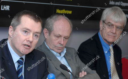 British Airways CEO Willie Walsh, left, Colin Stanbridge, CEO, London Chamber of Commerce and Industry and Richard Lambert, Director-General, CBI.