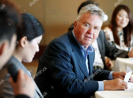 Dutch Football Manager Guus Hiddink a Former Head Coach of South Korea's National Football Team Meets with Citizens at a Hotel in Downtown Seoul South Korea 26 September 2016 Hiddink who Guided South Korean to the Semifinals of the 2002 World Cup Flew Into Seoul the Previous Day to Discuss the Future Direction of a Local Foundation Named After Him and Engage in Other Activities He is Slated to Stay in South Korea Till 06 October Korea, Republic of Seoul