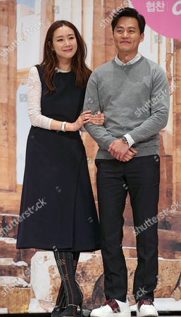 South Korean Actors Choi Ji-woo (l) and Lee Seo-jin Attend an Event Promoting the New Tvn Show 'Grandpas Over Flowers in Greece' in Seoul South Korea 24 March 2015 Korea, Republic of Seoul