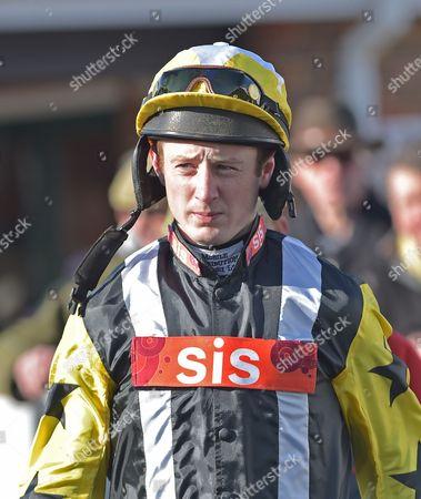 Conor O?Farrell, jockey, at Plumpton Racecourse on Monday 13th February 2017.
