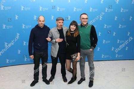 Jonny Lee Miller, Ewen Bremner, Anjela Nedyalkova and Danny Boyle