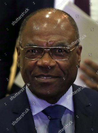 Editorial image of The Democratic Republic of Congo's presidential chief of staff Leonard She Okitundu, Belgrade, Serbia - 13 Feb 2017